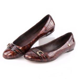 Cole Haan Tortoise Patent Leather Ballet Flats EUC